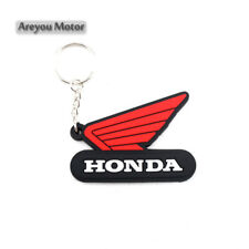 Honda Wing Keyring Motor Bike Rubber Keychain Key Chain Key Ring Gift Cool Black