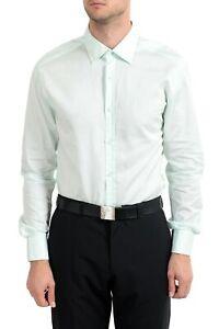 "Hugo Boss ""T-Shane"" Men's Green Slim Fit Long Sleeve Dress Shirt US 16.5 IT 42"