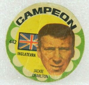 JACKIE Charlton ORIGINAL FOOTBALL SOCCER 1966 CARD N° 442