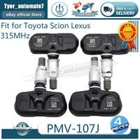 (4) OEM 42607-33021 PMV-107J TPMS Tire Pressure Sensors for Toyota,Lexus,Scion