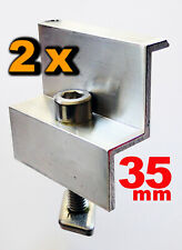 Set 10 Paar: Edelstahlschraube M8 X16 Befestigung Solarprofil Nutenstein Pv.