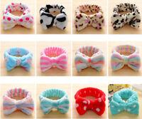 Lovely Big Bow Dot Striped Soft Hair Band Wrap Headband for Bath Spa Make Up