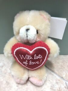 Valentine's Day 12cm Hallmark With Lots Of Love Heart Forever Friends Teddy Bear