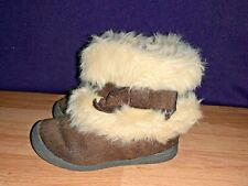 CHEROKEE Fur Lined Chocolate Brown Booties Boots Toddler Shoes Size 7 ❤️sj17j15