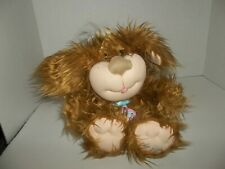 """2005 cabbage patch kids cpk brown puppy dog plush 11"""" tall"""