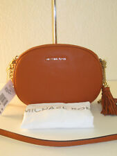 MICHAEL Michael Kors Orange Leather Ginny Medium Messenger Bag $228