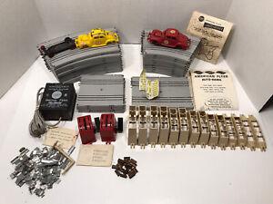 Vintage Gilbert American Flyer Auto Rama Race Set / Parts