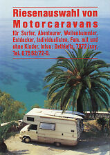 Prospekt Dethleffs Motorcaravans Riesenauswahl 1989 Reisemobil Wohnmobil brochur
