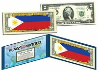 PHILIPPINES - FLAG SERIES $2 U.S. Bill - Genuine Legal Tender Bank Note