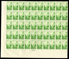"756 Farley spec printing "" 1c National Park"" Sheet of 50 Mint, NH"