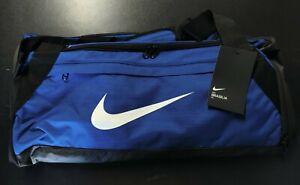 NWT Nike Brasilia Medium Duffel Bag Royal Blue/Black/White BA5977-480 Gym Travel