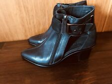 Jo Mercer-Black Suede Leather Bootie-Size 37 Rrp:$219.95