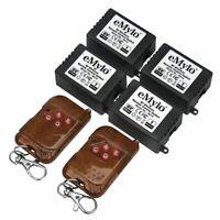 eMylo DC6V 4x1CH 433Mhz Wireless Relay Remote Control Light Switch 2 Transmitter