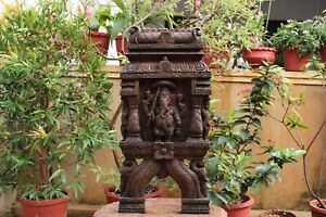 Ganesha Statue Wall Panel Sculpture Ganesh Kavadi Temple Vintage Home Decor Rare