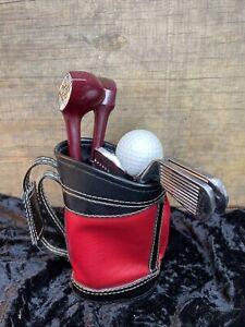 Vintage Golf Club Bar Tool Set w/ Golf Bag Holder