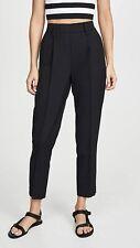 Vince Easy Tapered Pull On black seams elastic waist Pants sz S