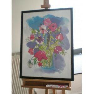 KUNSTDRUCK HAZEL BURROWS - SILKY FLOWERS