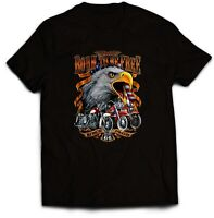 Born To Be Free Biker T Shirt. Retro Vintage 70's Harley sizes Small to 5XL