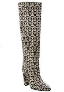 Salvatore Ferragamo Antea Tall Knee High Boots Womens Size US 7.5 New In Box