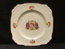 "Queen Elizabeth II Coronation 1953 Alfred Meakin Round-Edged 8 1/2"" China Plate"