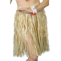 Hawaiian Hula Skirt 56cm - Luau Smiffys Fancy Dress Ladies Grass Elasticated