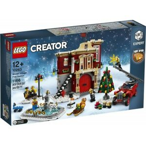 LEGO 10263 CREATOR EXPERT CASERMA DEI POMPIERI VILLAGGIO INVERNALE NATALE