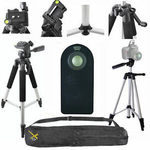 "LIGHTWEIGHT 57"" PHOTO TRIPOD + REMOTE FOR NIKON D3000 D3100 FOR ALL NIKON DSLR"