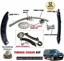 FOR NISSAN X TRAIL T31 2.0TD DCI 2007-2014 NEW TIMING CAM CHAIN KIT WITH GEARS