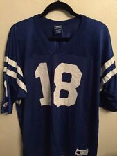 Peyton Manning #18 Indianapolis Colts Champion Football Jersey Men's 52 Vintage