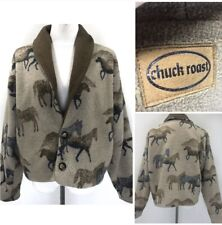 Vintage Chuck Roast Medium Sherpa Fleece Cardigan Sweater Jacket Pioneer West