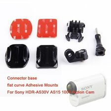 Flat Curved Adhesive Tripod Mount Buckle fr Sony action cam AS15 AS30 AS100V Cam