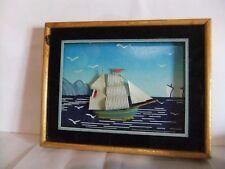 petit cadre maquette bateau sous verre