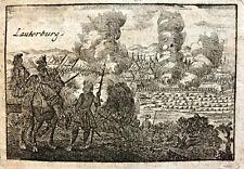 LAUTERBURG LAUTERBOURG 1705 BELAGERUNG DURCH VILLARS WISSEMBOURG ALSACE ELSASS