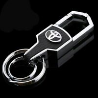 Toyota car metal keyring key safe fob case cover badge holder chain tags