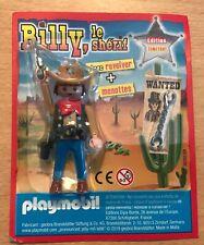 FIGURINE PLAYMOBIL PLAYMO SOUS BLISTER BILLY LE SHERIF COWBOY COW BOY