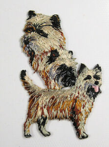 Cairn Terrier dog heat seal embroidered badge