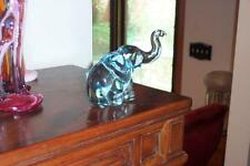 HEISEY BY IMPERIAL RARE HORIZON BLUE BABY ELEPHANT TRUNK UP AND ONLY 60 MADE