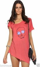 Skull Polyester Short Sleeve Tops & Blouses for Women