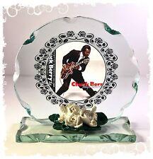 Chuck Berry  Photo Cut Glass Round Plaque Ltd Edition Memorabilia Rock & Roll