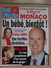ICI PARIS N° 2898 CELINE DION DEPARDIEU DICAPRIO MICHELE TORR JEANNE MOREAU
