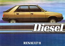 Renault 11 GTD Diesel 1984 UK Market Launch Leaflet Sales Brochure