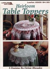 New listing Crochet Heirloom Table Toppers Leisure Arts #2505 5 Designs by Delsie Rhoades