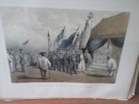 Vintage Print,COMMANDER PERRY COMMISSIONER,Perry Expedition Japan,1856