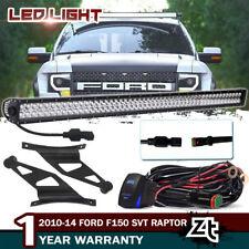 For 2009-2014 F150 2010-14 Ford F150 SVT Raptor 50'' LED Light Bar+Roof Brackets