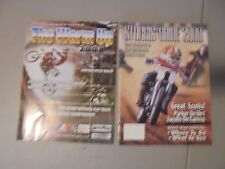 LOT OF 2 2008 BILLINGS MOTORCYCLE RACING ,2000,STURGIS RACING PROGRAM,HILL CLIMB