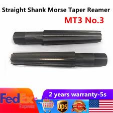 Mt3 No3 Straight Shank Morse Taper Reamer Kit Roughing Finishing Fine Finish Us