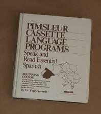 Pimsleur Cassette Language Program Speak & Read Essential Spanish Beginner Level