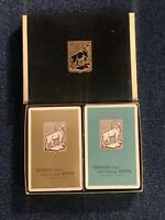 Vintage Harris Bank Double Deck Playing Cards-One Deck Is Sealed