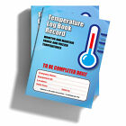 Temperature Control Log Book - Food Fridge Freezer- 6 month record Food Hygiene