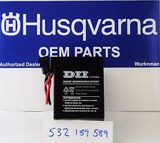Husqvarna OEM 532189589 - 12 Volt Battery also fits Poulan  AYP   189589